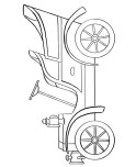 Antique car Printable coloring pages