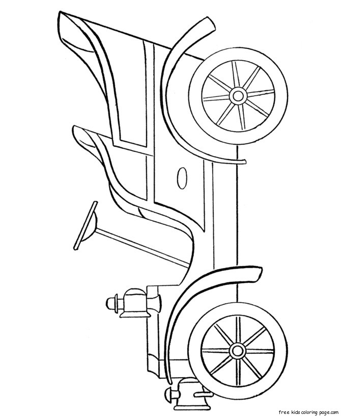 coloring pages cars antiques | Free printable antique car coloring pages for kidsFree ...