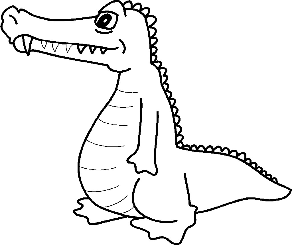 Coloring pages Alligator print out for kids - Free Printable ...
