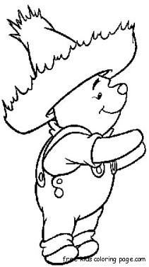 Coloring Pages Of Winnie The Pooh Charactersfree Printable