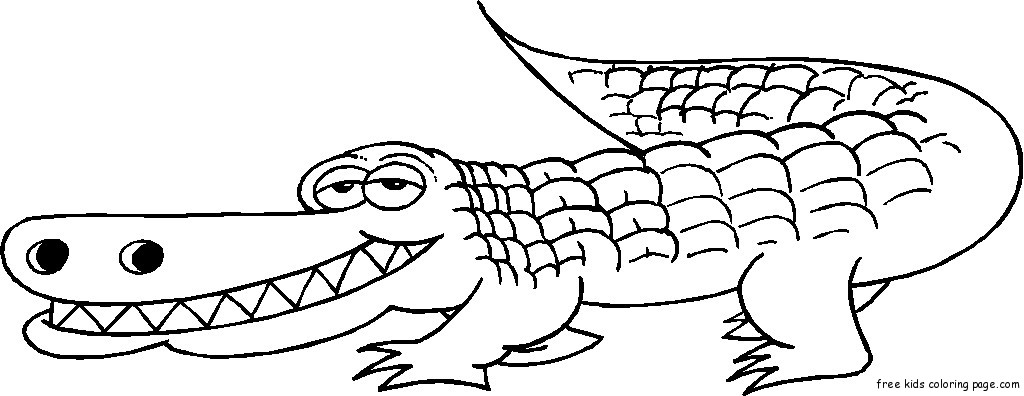 Grinning Alligator coloring pages online1