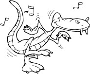 Kids coloring pages Alligator Rock And Roll online