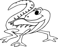 Kids coloring pages Coiled Snake