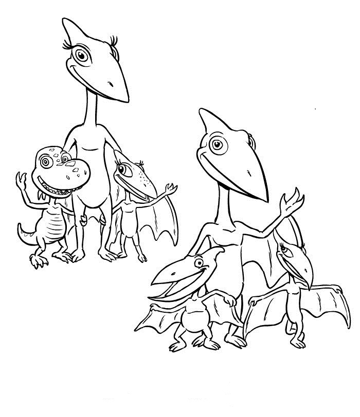 Print out Dinosaur Train Coloring Pages Free Printable