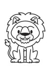 Print out jungle animal lion coloring page