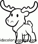 Print out  moose coloring pages for kids
