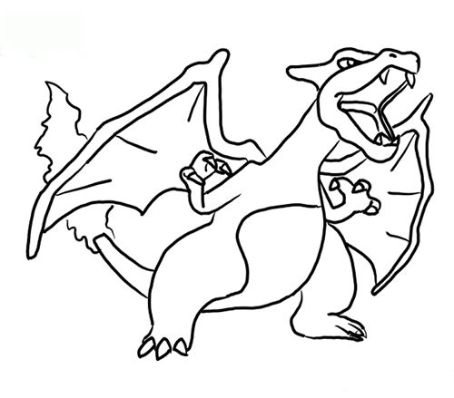 Print out Charizard Coloring book
