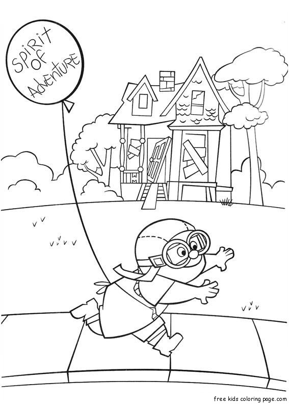 Printable Disney Movie Up Plot Coloring Pages For Kidsfree