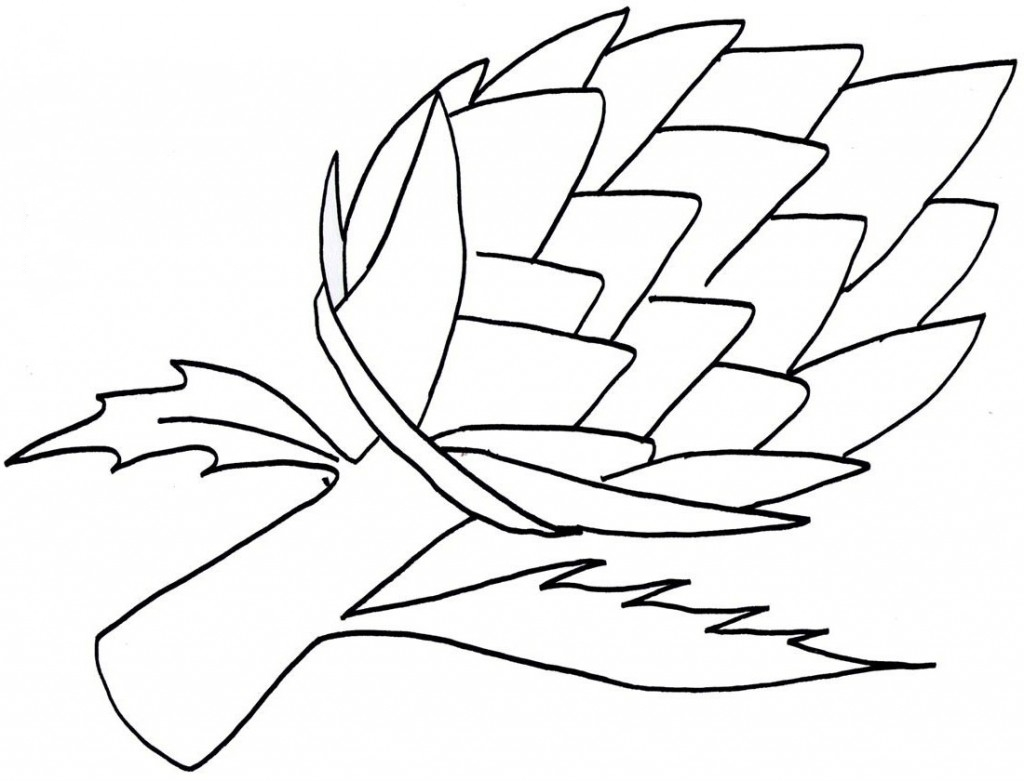 Printable Vegetable Artichoke Coloring Pages for kidsFree