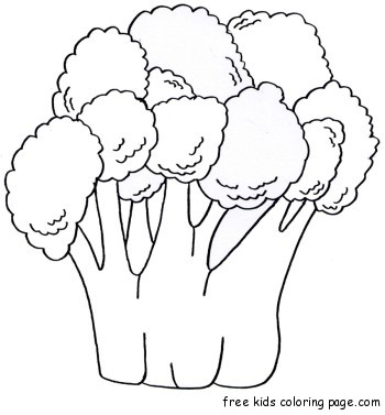 coloring book pages fruits vegetables Broccoli print
