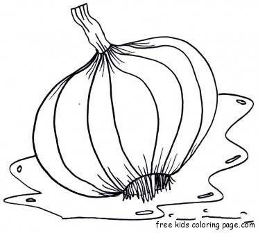 Vegetable Garlic Coloring Page