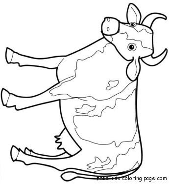 Animal Farm Cow Coloring Page Printablefree Printable
