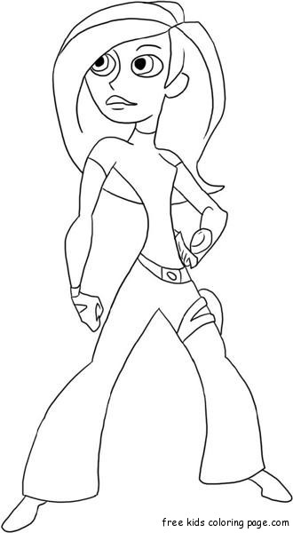 Print out kim possible and shego online coloring gamefree for Kim possible coloring pages to print