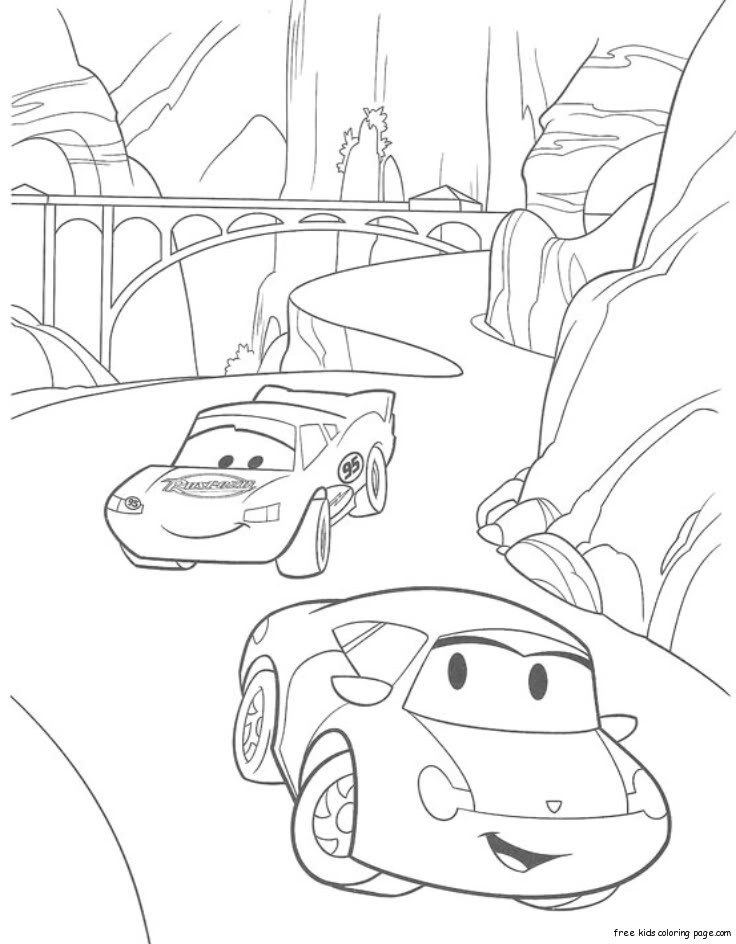 Printable lightning mcqueen coloring pages disneyFree