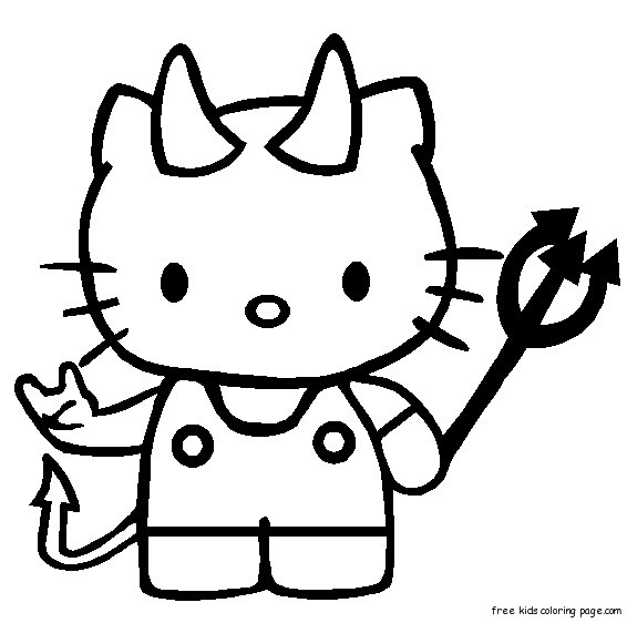 Print out hello kitty halloween coloring bookFree ...