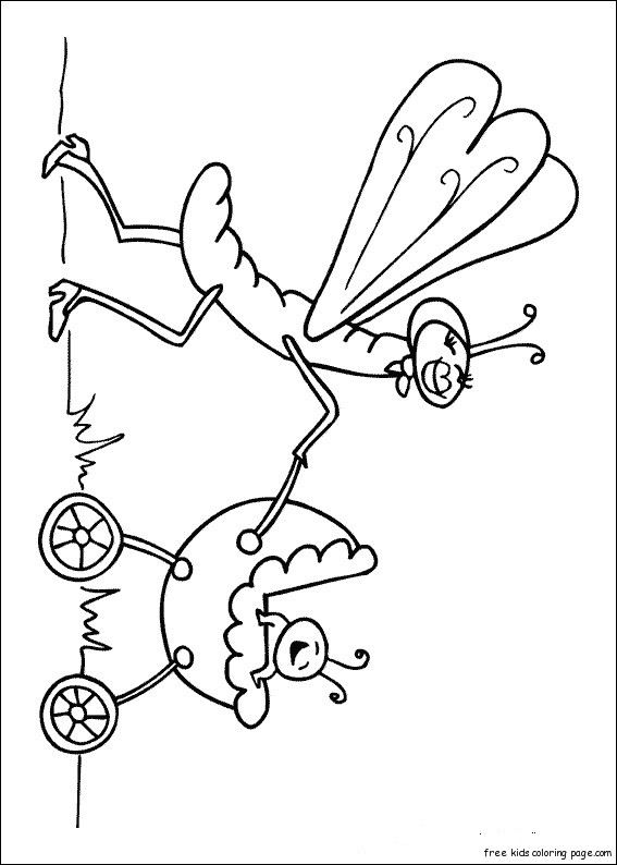 Printable insect coloring pages online for preschoolFree