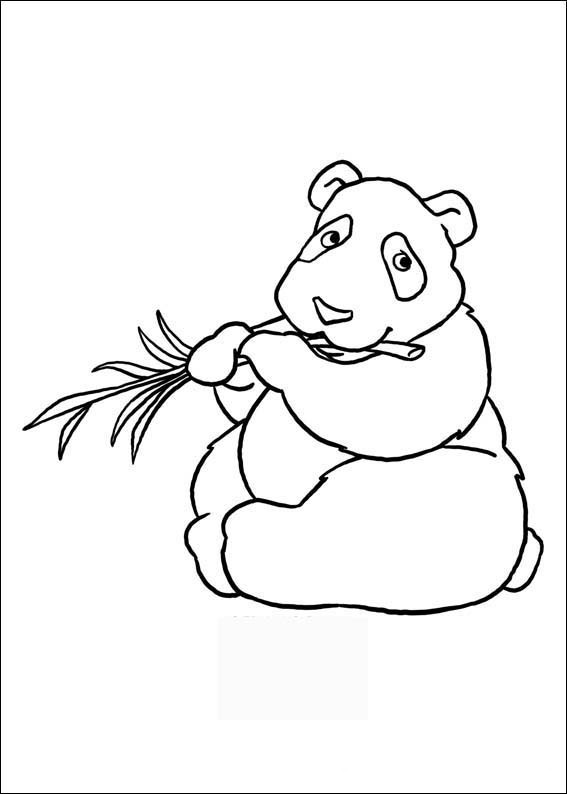 Printable panda coloring pages for preschoolFree Printable