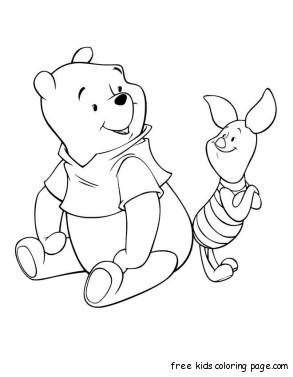 coloring pages disney characters winnie the pooh and piglet online - Disney Baby Piglet Coloring Pages