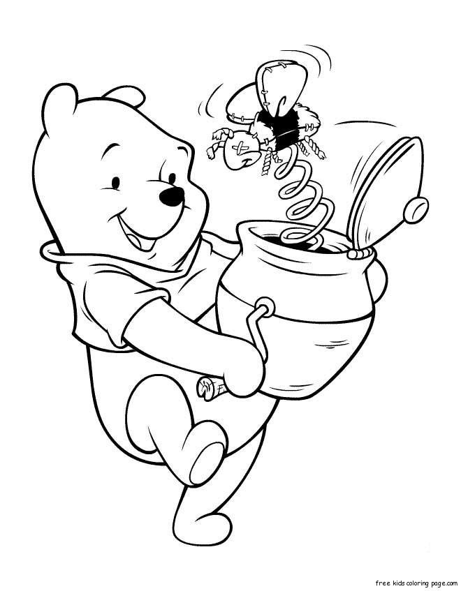 Coloring Pages For Kids Winnie The Pooh With Honeyfree