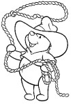 Disney Characters pictures to print Winnie the Pooh a cowboy