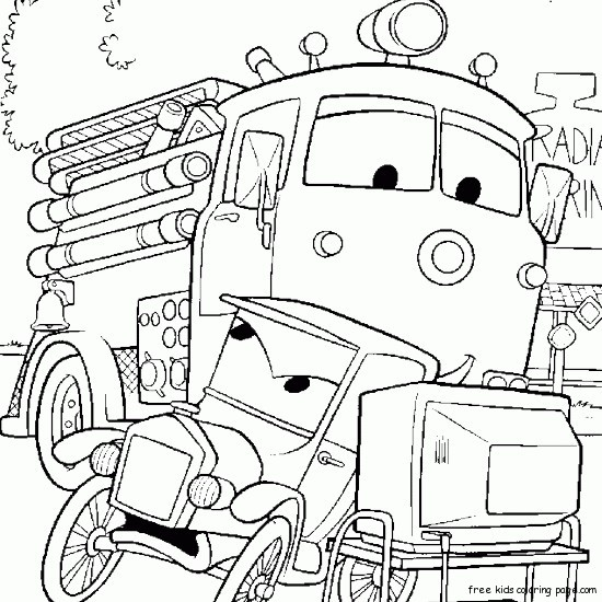 cars character coloring pages - photo#43