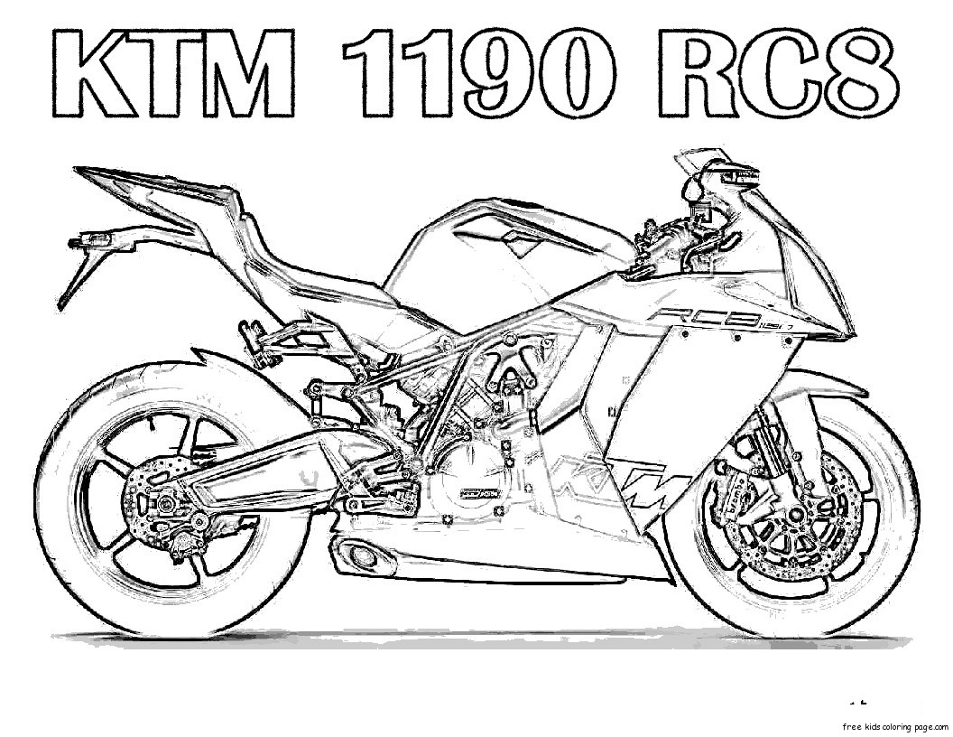 Free Motorcycle Coloring Pages For Kids Free Printable