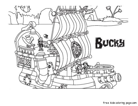 Jake And The Neverland Pirates Halloween Coloring Pages 37348 Loadtve
