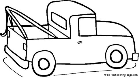 Ford pick up truck coloring page for kidsFree Printable ...