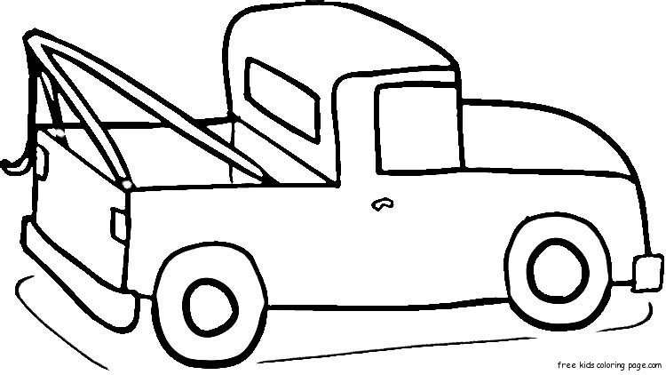 Ford pick up truck coloring page