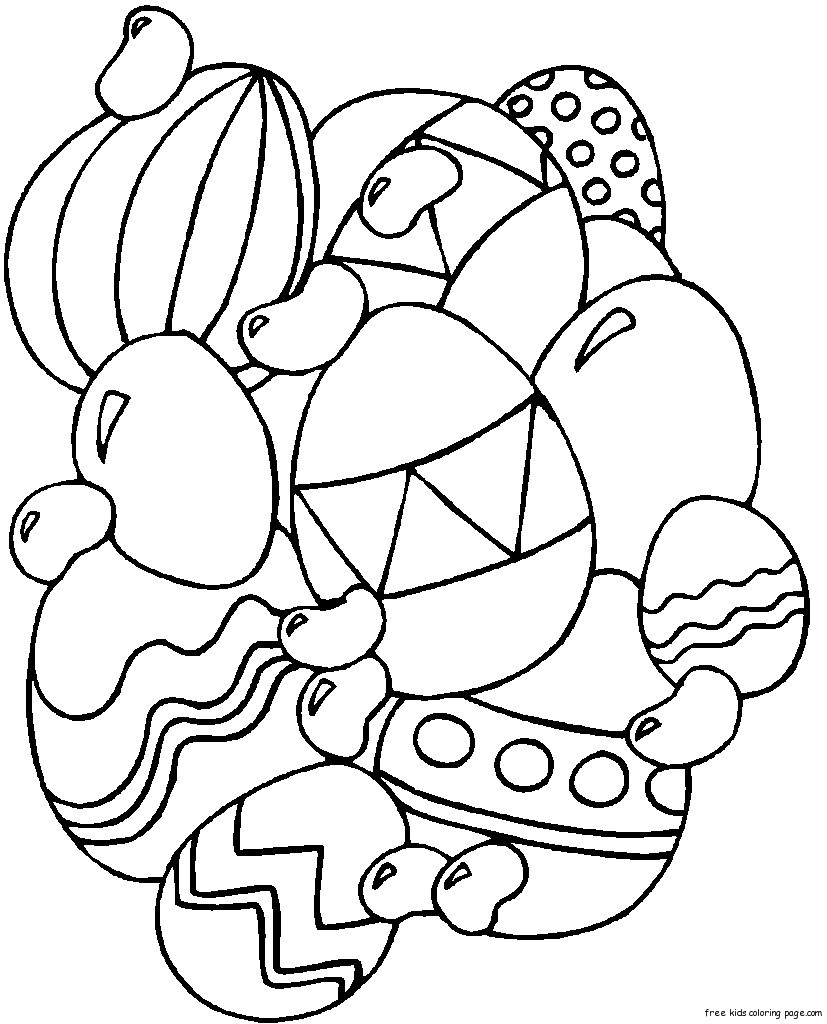 Print out Easter Eggs Coloring
