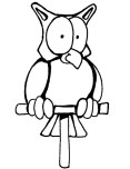 Print out coloring pages of owl