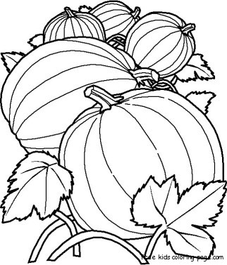 printable pumpkin coloring pages kidsFree Printable Coloring Pages ...