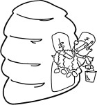 Printable insects Bee in the House coloring page