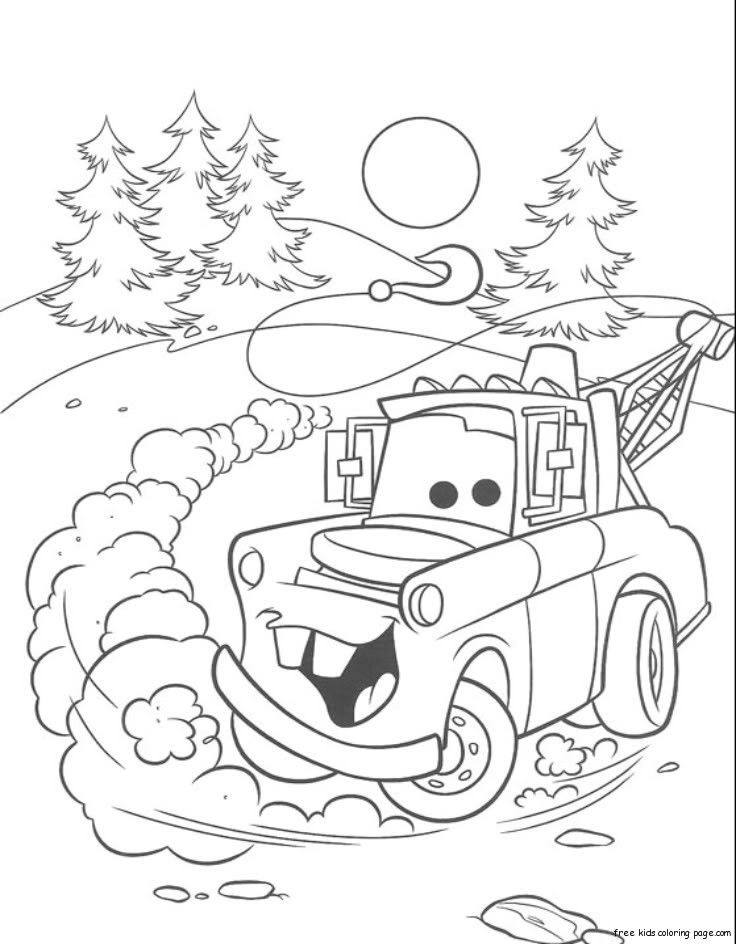 Free printable tow mater coloring pagesfree printable for Coloring pages tow mater