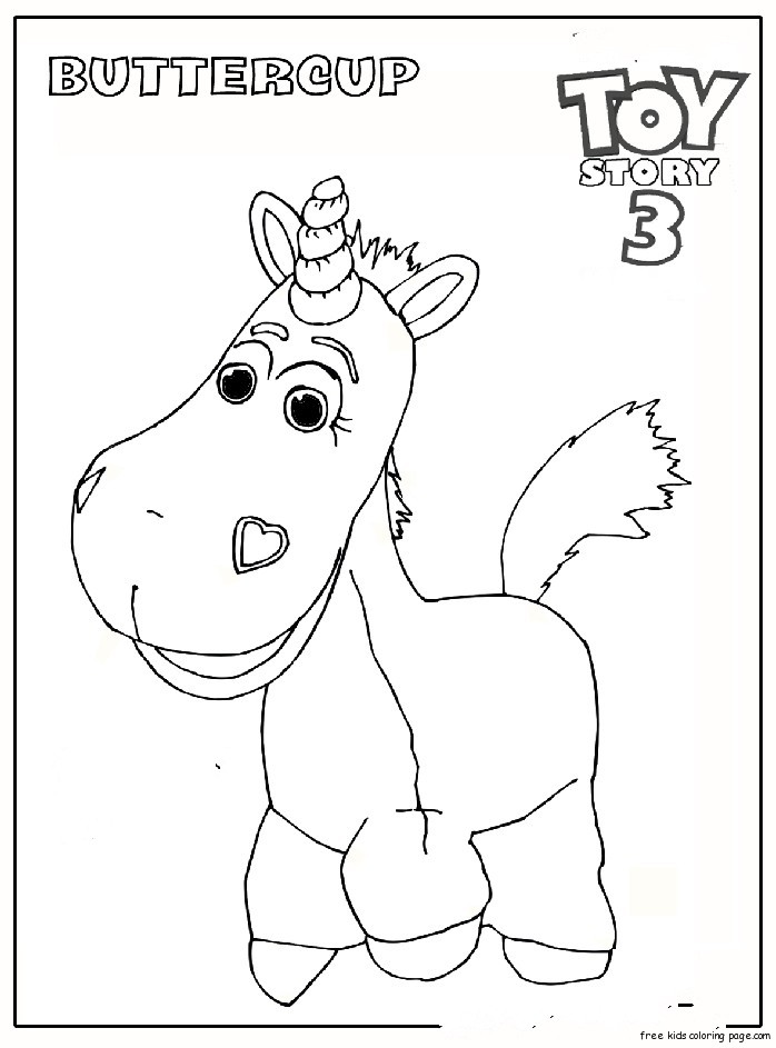 Buttercup toy story 3 coloring pagesfree printable for Free printable coloring pages toy story 3