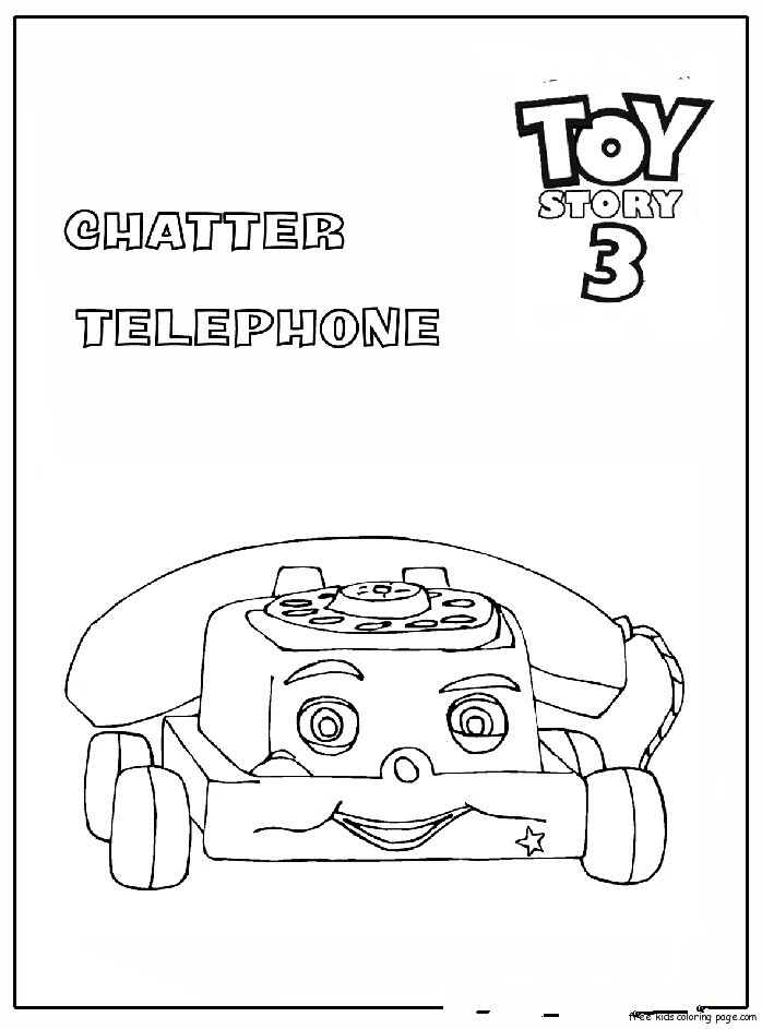 Chatter Telephone Toy Story 3 Coloring Pagesfree Printable