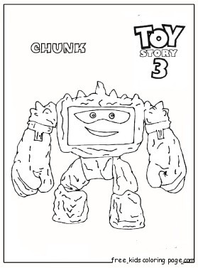 Print out chunk Toy Story 3 coloring