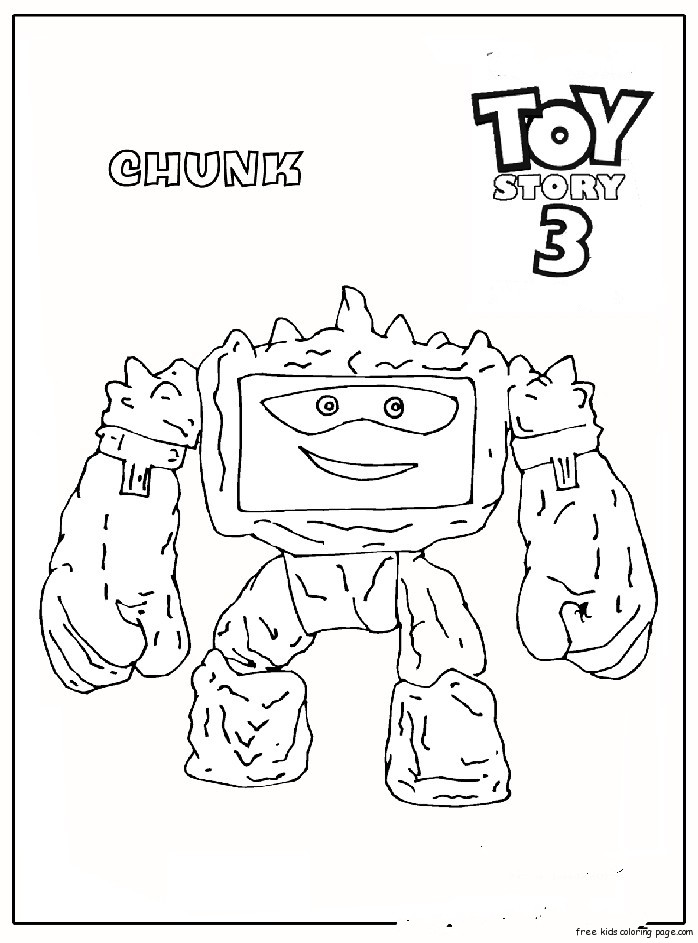 Chunk toy story 3 free printable coloring pages for kids for Free printable coloring pages toy story 3
