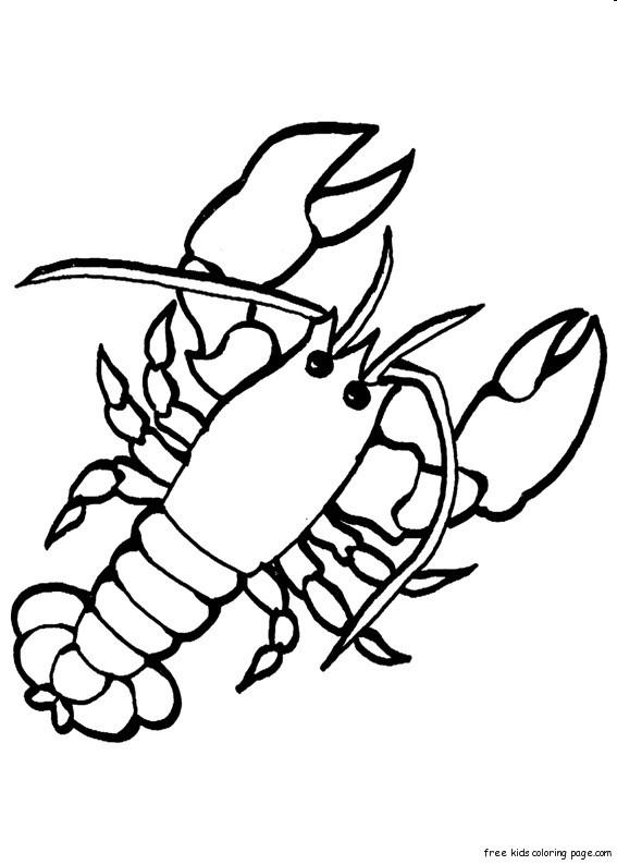 Printable crab roe ocean coloring