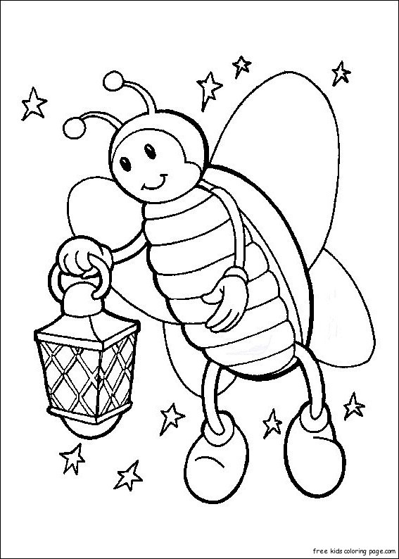 Firefly coloring page