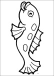 fish coloring page kids