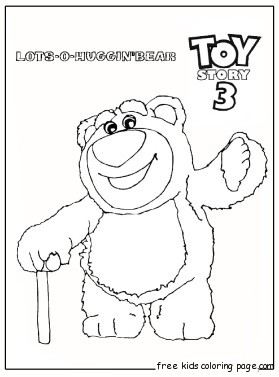 print out huggin bear toy story 3 coloring pages fo