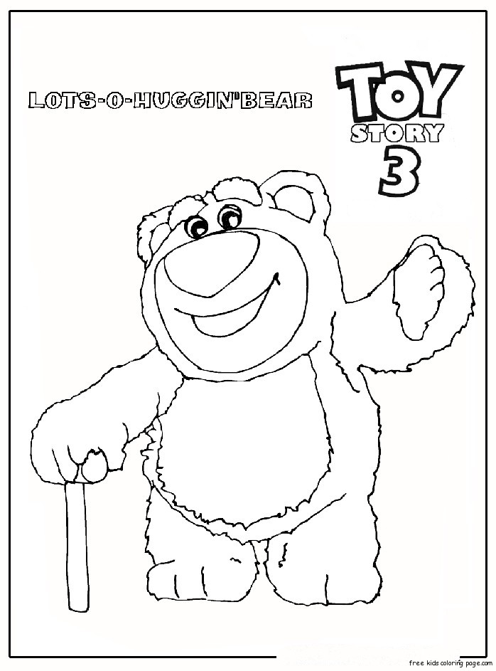 huggin 39 bear toy story 3 Free Printable Coloring Pages