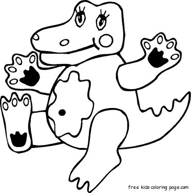 Print Out Animals Coloring Pages Of Crocodile BabyFree Printable