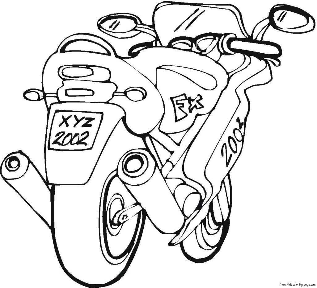 free motorbike colouring pictures printable for kidsFree ...