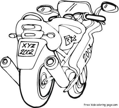 free motorbike colouring pictures printable for kidsFree