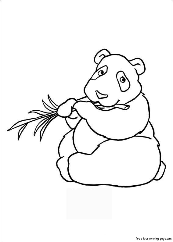 Printable animal Panda coloring pages kidsFree Printable