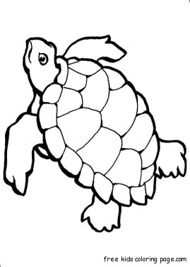Print out turtle ocean Colouring