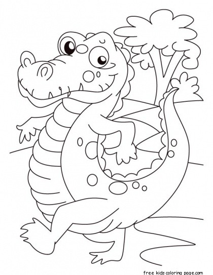 alligator coloring pages for kids - print out alligator coloring pages for kidsfree printable