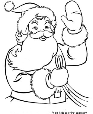 Printable christmas santa claus colouring pagesFree